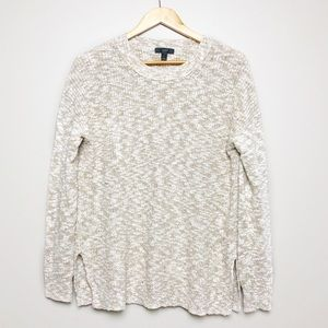 J. Crew Cream White Knitted Long Sleeve Sweater S